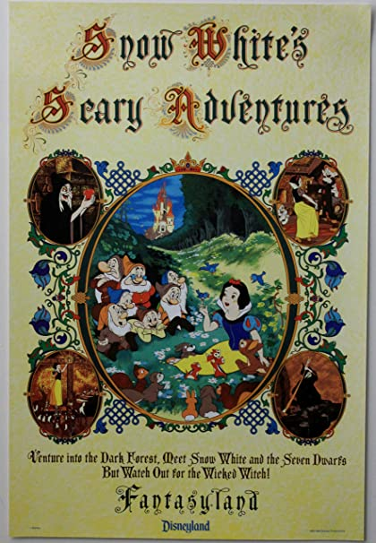 Disneyland Paris Snow White Poster Available in 5 Sizes