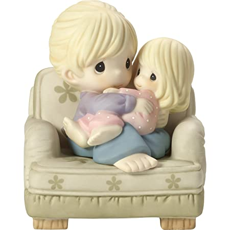 Precious Moments Nestled in Your Love Mother Daughter In Chair Bisque Porcelain Home Decor Collectible Figurine 173007