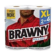 Brawny Paper Towels, White, 2XL Rolls