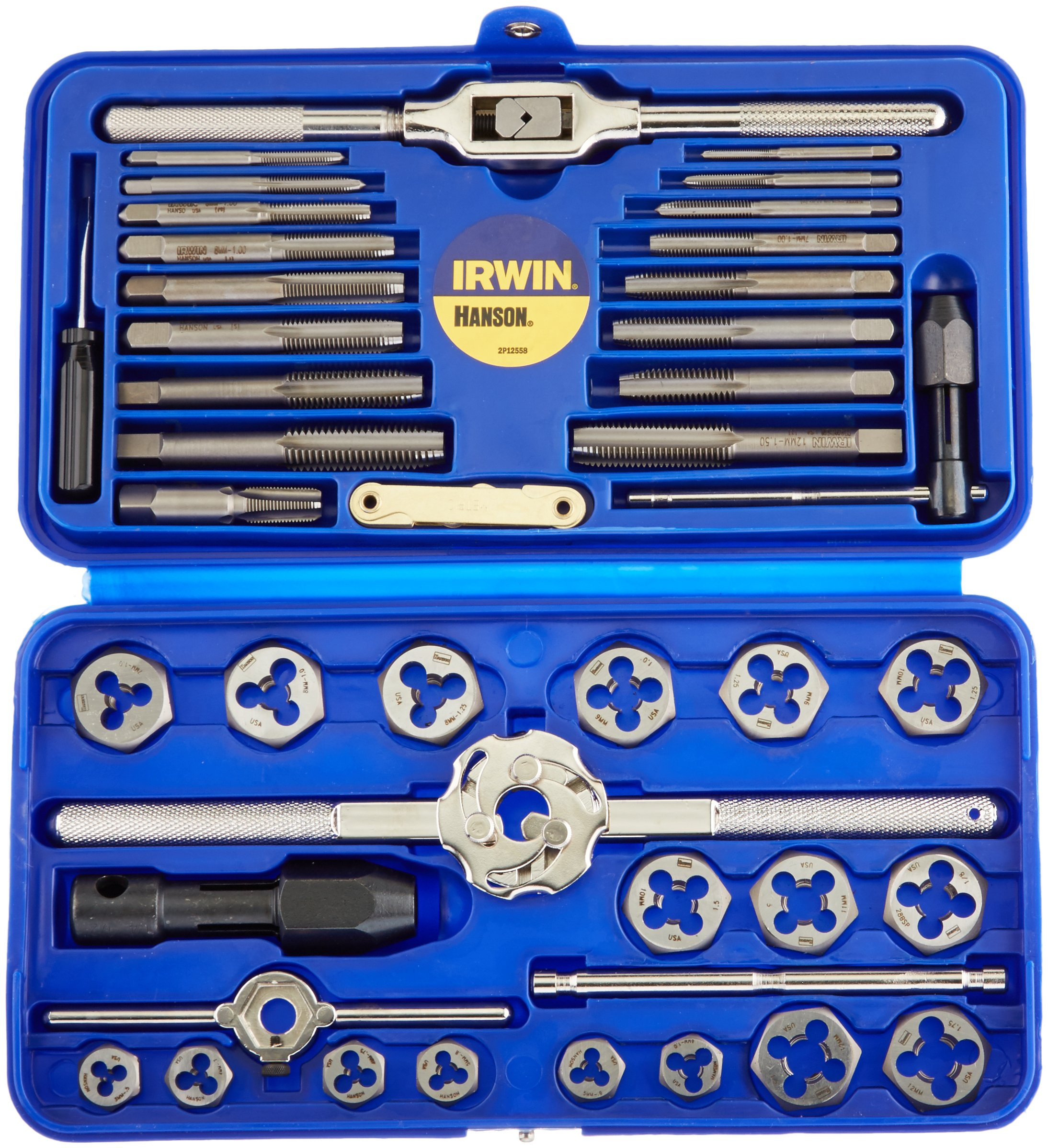 IRWIN Tools Metric Tap and Hex Die Set, 41-Piece (26317) by Irwin Tools