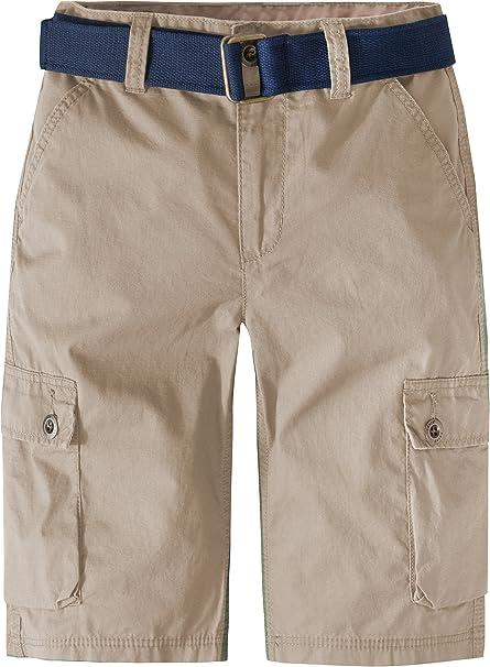 7, Dress Navy Wear First Boys Adjustable Waistband Cargo Short