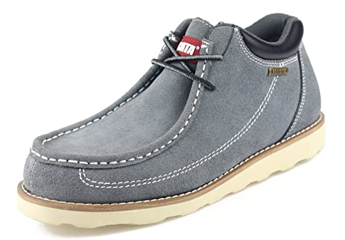 77c2240d65f Jacata Men's Low-Cut Work or Mid-Cut Casual or Heavy Duty Leather Boots  with Steel Toe Option/Driving Loafer/Walking Mesh Sneaker/Vegan Moccasin  Water ...
