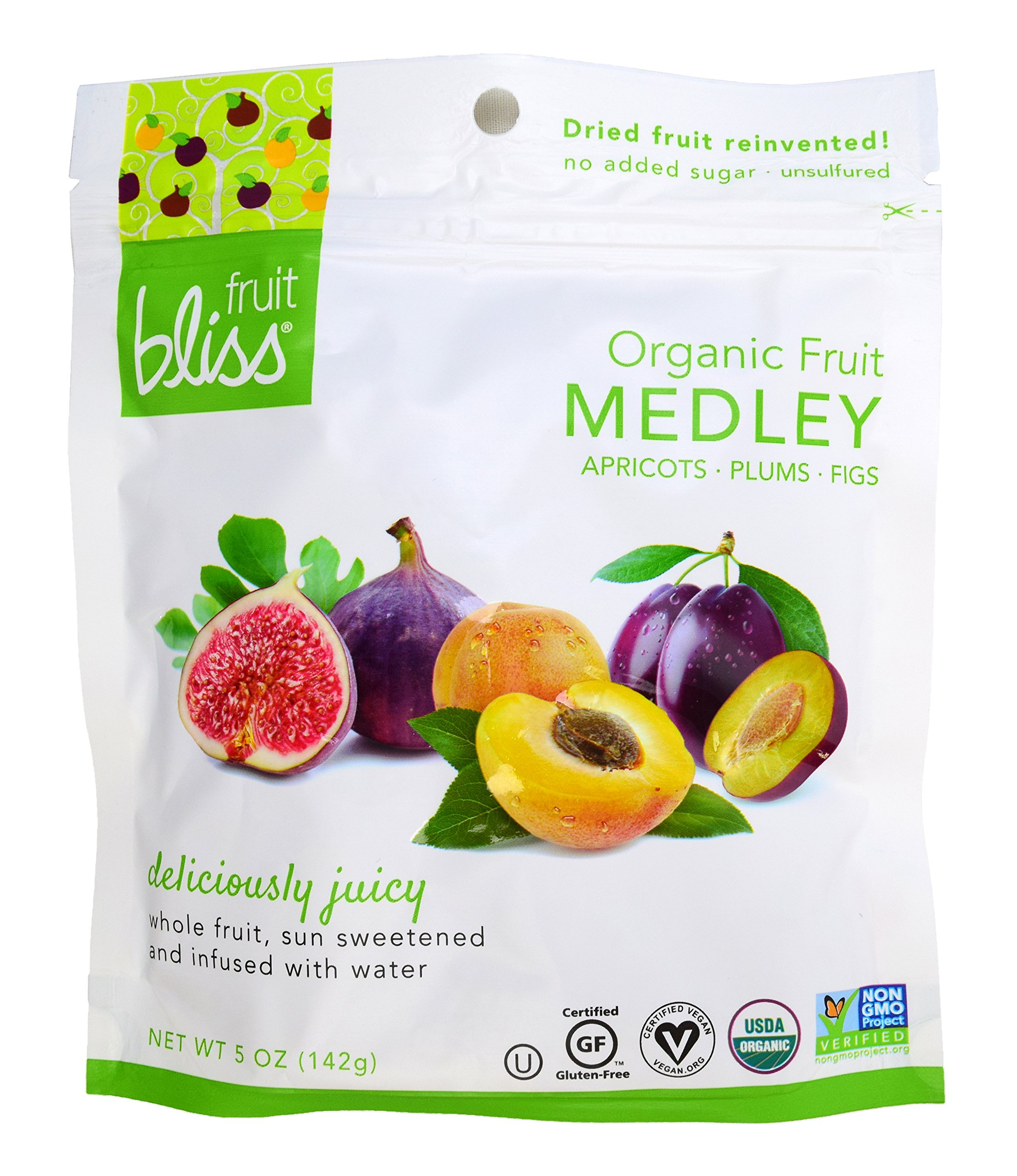 Fruit Bliss Organic Dried Fruit Medley, 5 oz, Pack of 6 by FRUIT BLISS (Image #1)