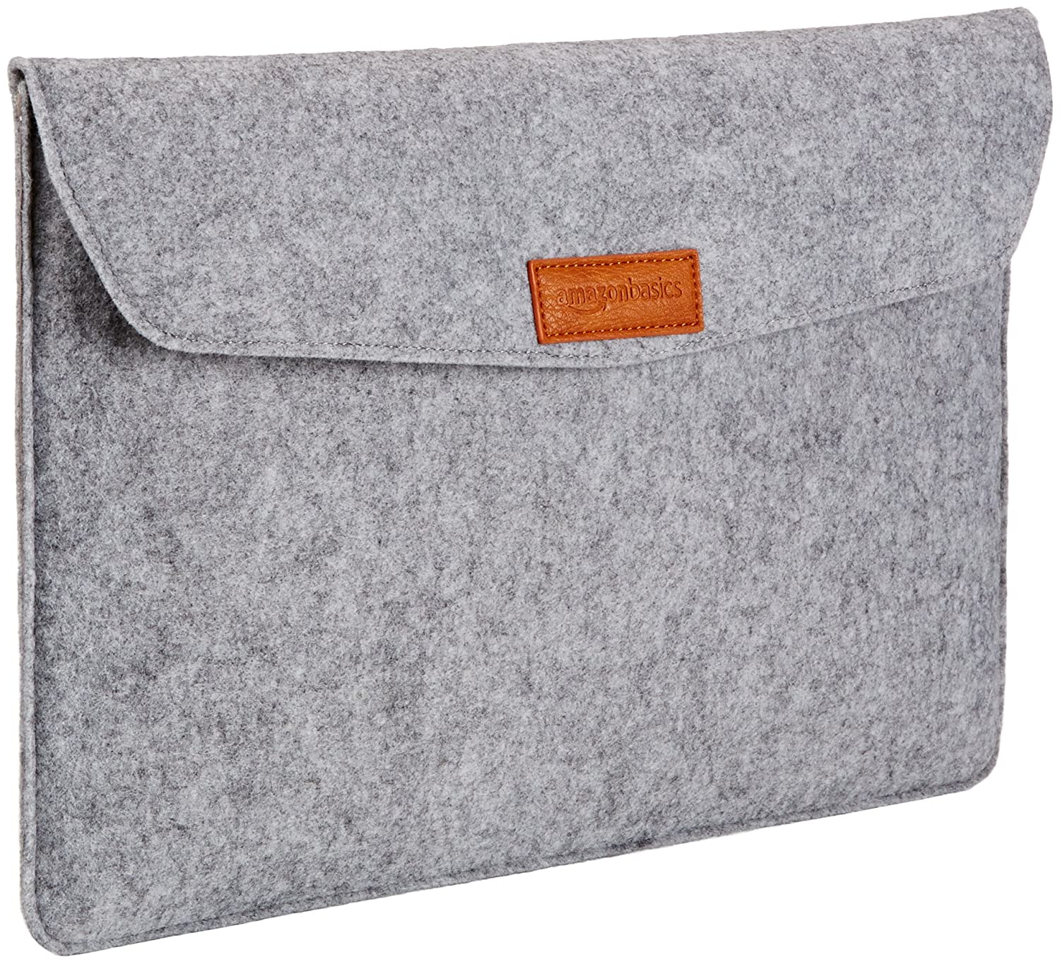 AmazonBasics 15.4-Inch Felt Laptop Sleeve - Light Grey