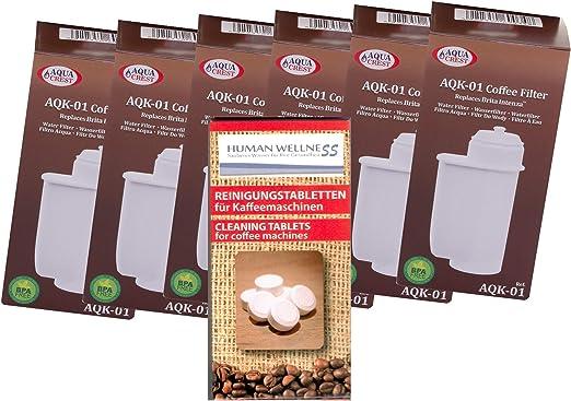 6 x aqk filtro de agua 01 sustituir Brita Intenza nº TCZ7003 ...