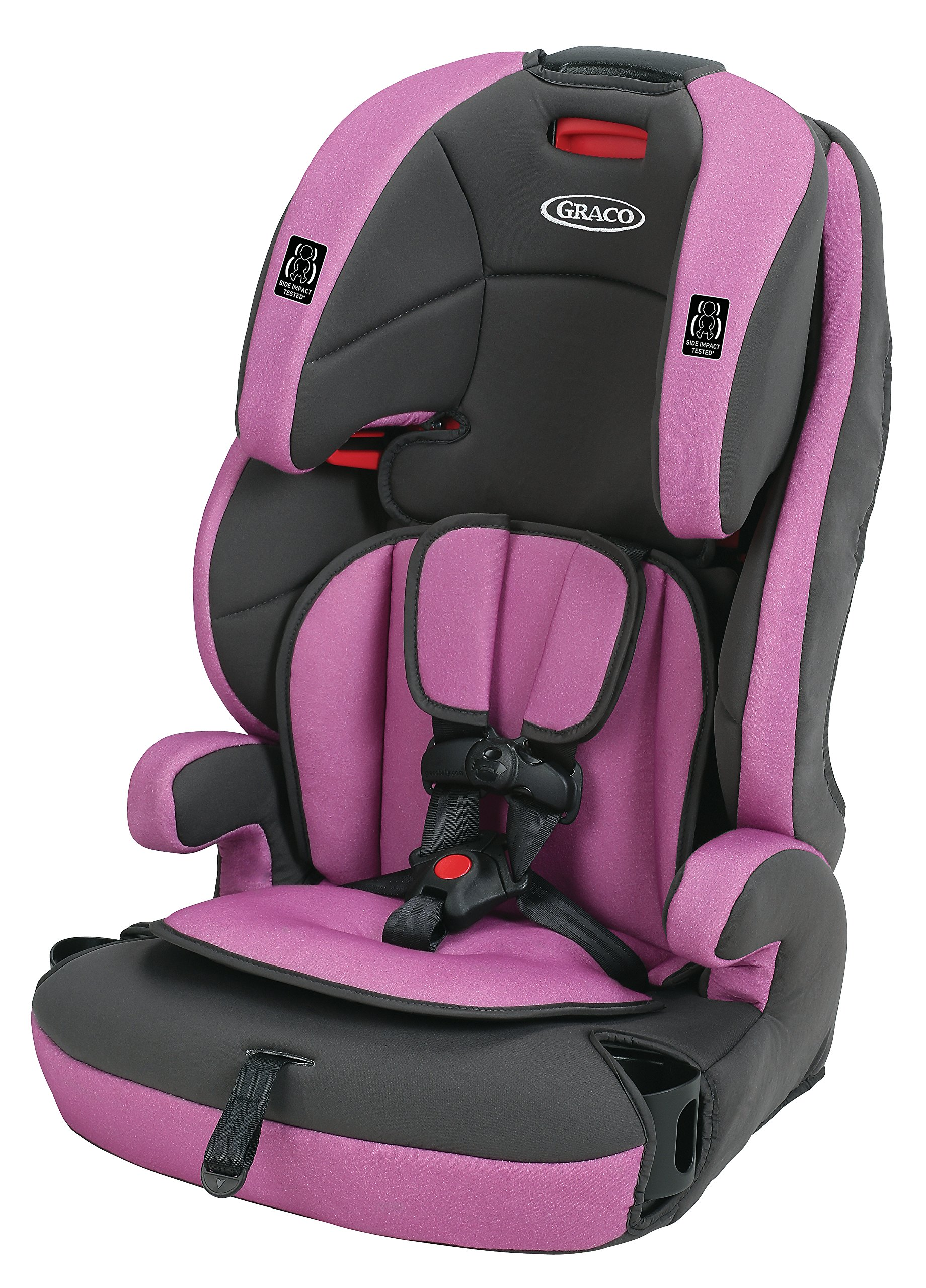 graco affix youth booster seat with latch system grapeade child safety booster. Black Bedroom Furniture Sets. Home Design Ideas