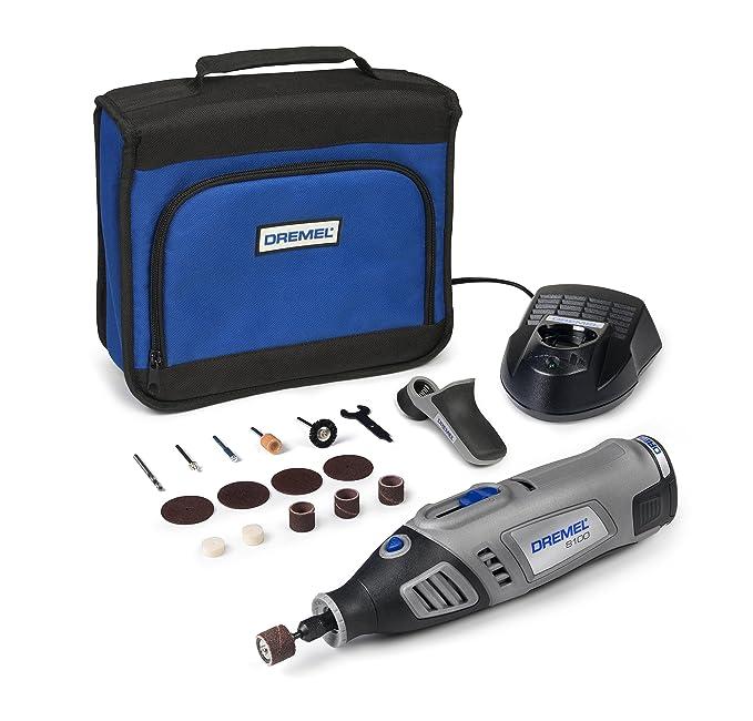 Dremel 8100 Multiherramienta a Batería, Incluye 1 Complemento y 15 Accesorios. 7,2V. Batería Li-ion. 1,3Ah