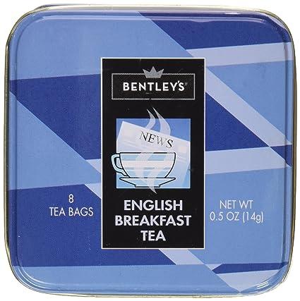 Bentley de desayuno inglés té, 8 bolsas de té, 2 unidades ...