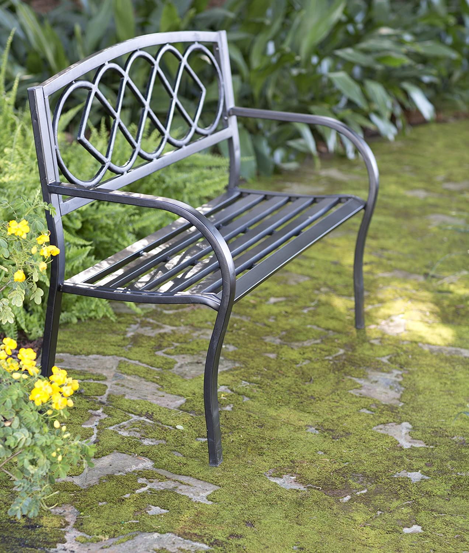 Amazon.com : Celtic Knot Patio Garden Bench Park Yard Outdoor ...