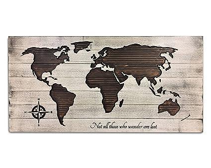 Wood World Map Cut Out.Amazon Com Olga212patrick Large Printed Wooden World Map Pallet