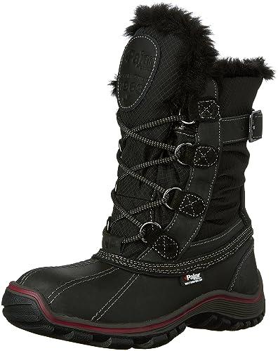 Pajar Women's Adelaide Snow Boot, Black/Black, 36 EU/5-5.5