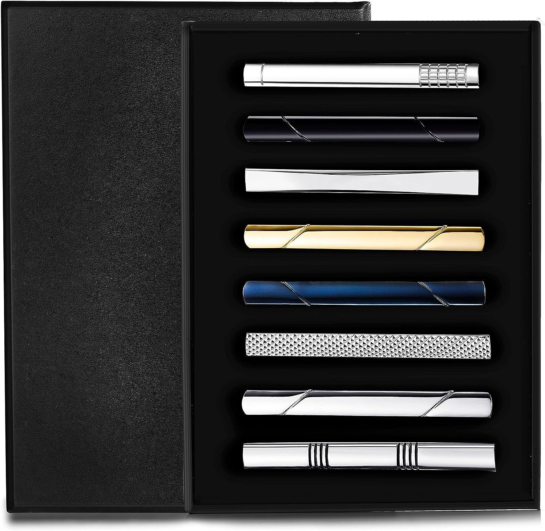 4 Classic Tie Clips for Men Tie Bar Pin Set for Regular Ties Skinny Tie Wedding Business Working