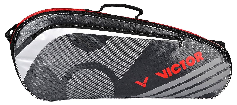 Victor Bolso Single The rmobag 9077 –  Raqueta de bá dminton, Color Rojo/Gris, de One Size VCTR5|#VICTOR 907/5/7