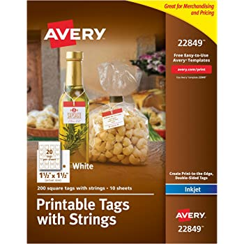 amazon com avery printable tags with strings scallop 2 x 1 25