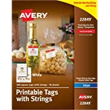 amazon com avery printable tags with strings for inkjet printers