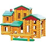 Smart Builder Master Cabin Log Set, Includes 400 Pieces of Interlocking Wood Logs