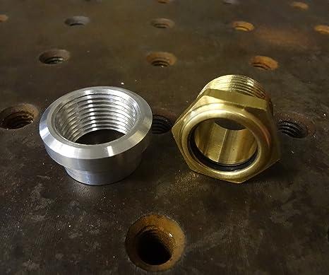 Amazoncom Motorcycle Brass Sight Glass Style External Fuel Gauge