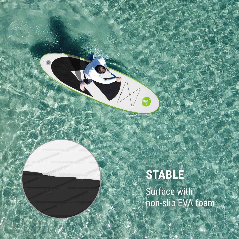 Klarfit Spreestar 320 • Tabla de pie Hinchable • Paddleboard • Paddle Surf • Tabla Sup 320 x 12 x 81 cm • Bomba Aire • Pala • Correa Seguridad • Mochila ...