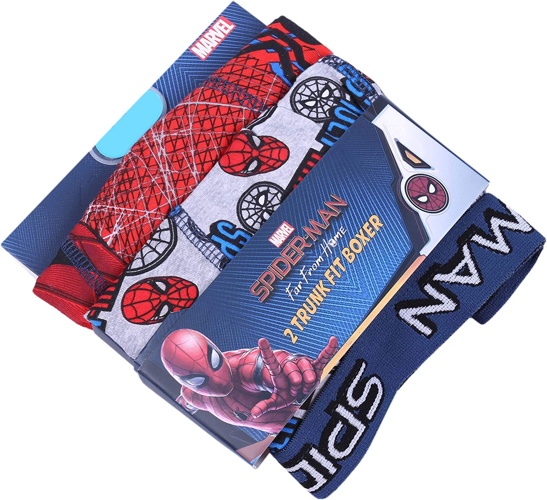 2X Grau-rote Boxershorts Spider-Man Marvel