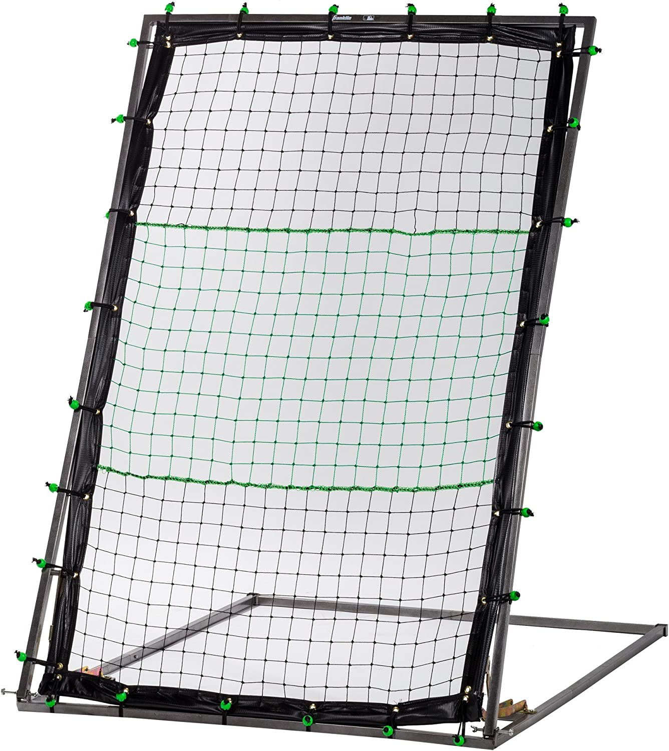 Franklin Sports MLB Pitch Back – Baseball or Softball Pitch Return – 60 Inch Adjustable Net for Ball Return at All Angles – Baseball and Softball Training Net for Adults and Kids Folds for Storage