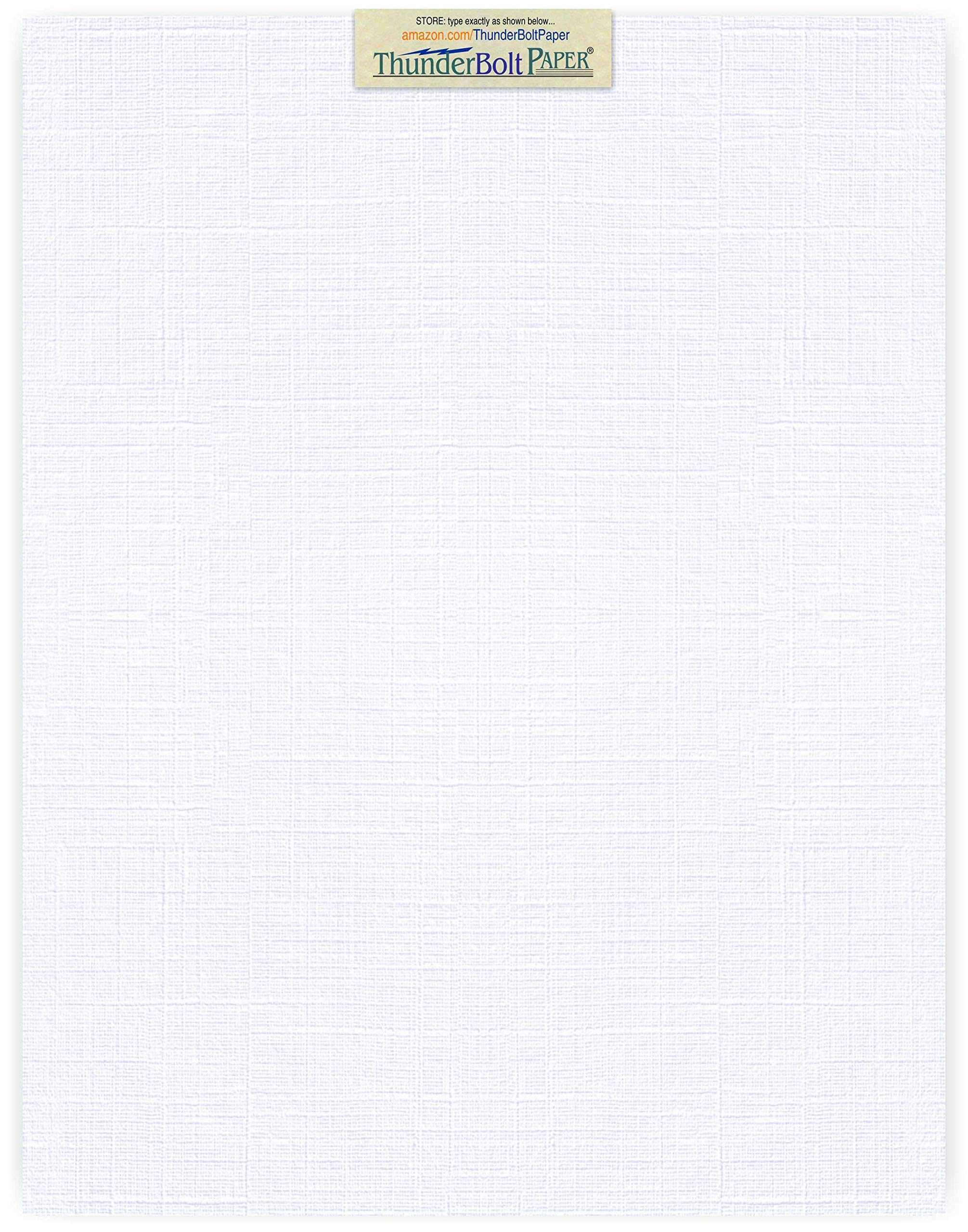 25 Bright White Linen 80# Cover Paper Sheets - 11'' X 14'' (11X14 Inches) Scrapbook|Picture-Frame Size - 80 lb/Pound Card Weight - Fine Linen Textured Finish Cardstock