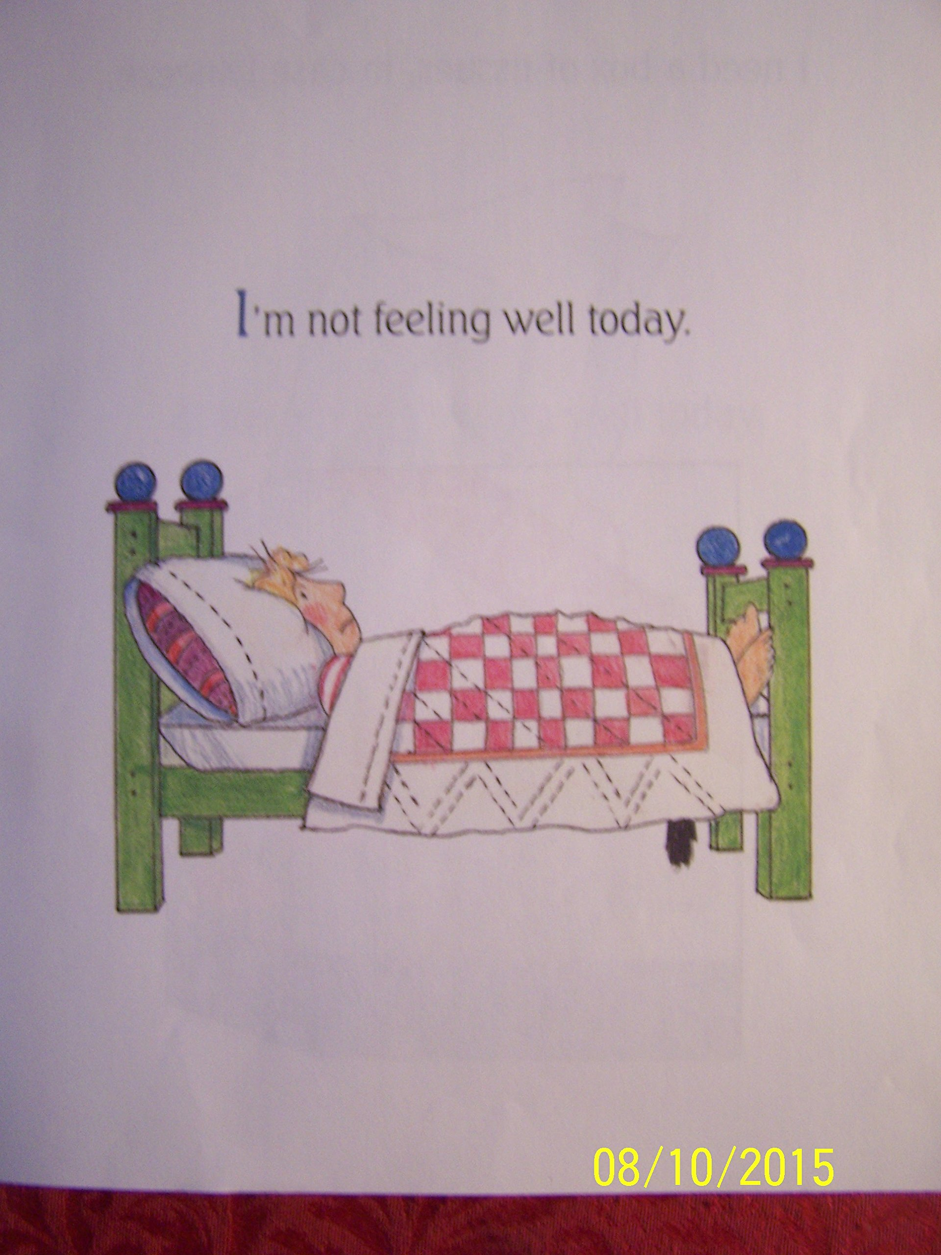 Im not feeling well today shirley neitzel 9780439396271 amazon im not feeling well today shirley neitzel 9780439396271 amazon books altavistaventures Gallery