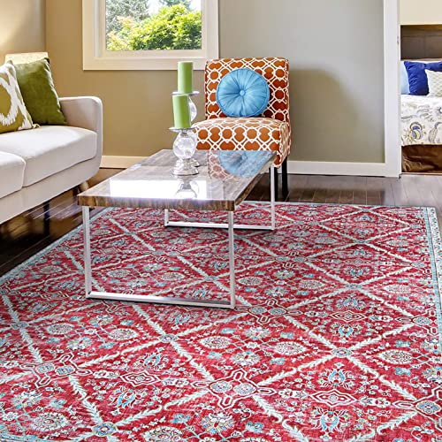 Couristan Pasha 5081/0081 Arcadia Garnet Area Rug