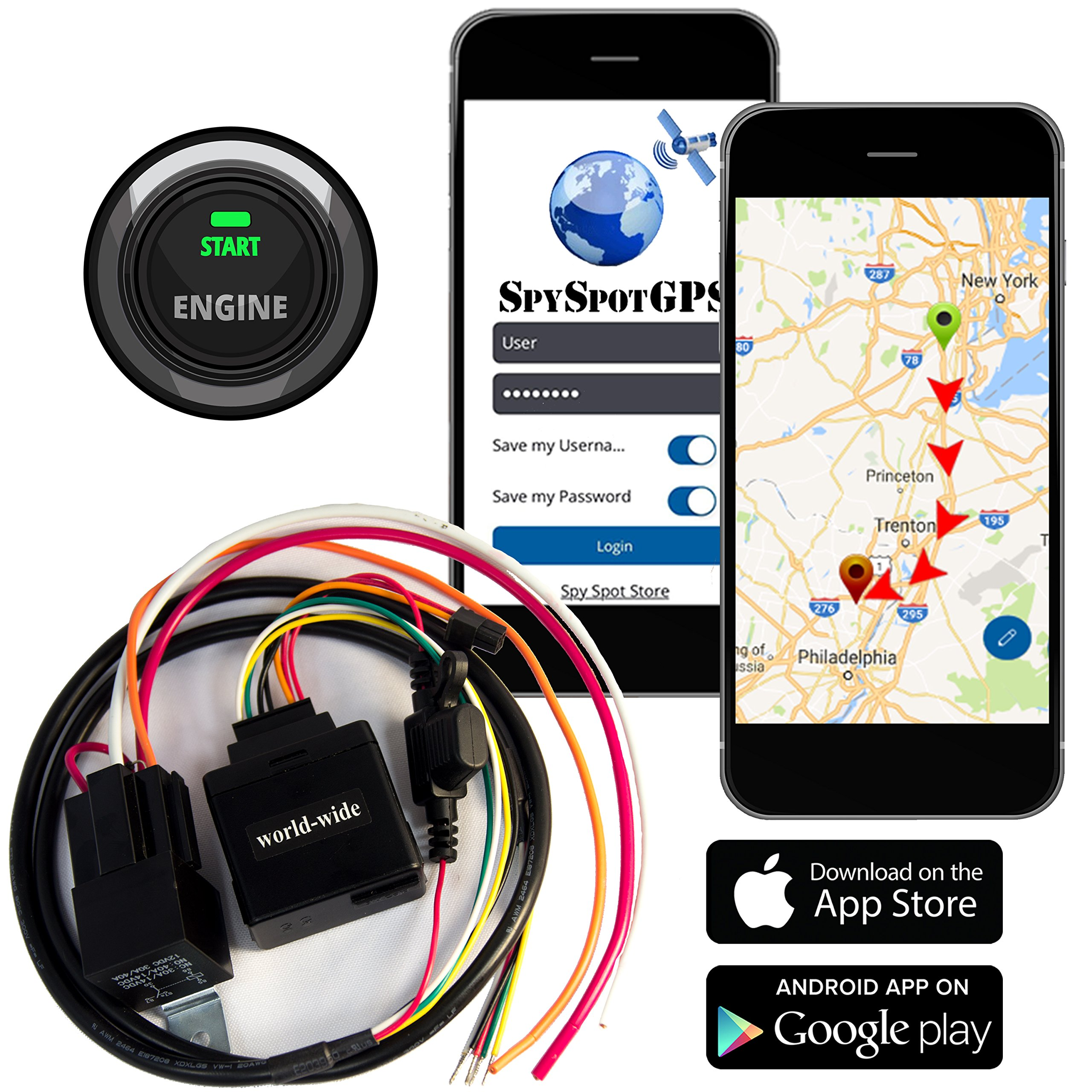 3G Hard Wire Kill Switch GPS Vehicle Tracker | Disable Any Vehicle Ignition - Remote Starter | Advance Satellite Real Time Fleet Tracking / Teen Driver Monitoring Alerts by Spy Spot