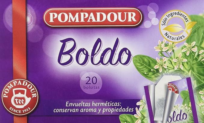 Pompadour - Infusion Boldo - 20 bolsitas - [pack de 5]: Amazon.es ...