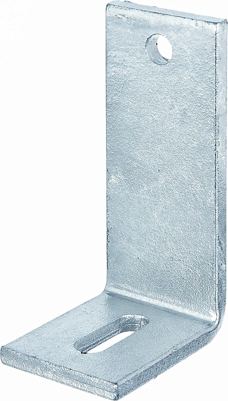 GAH-Alberts - Pletina de ángulo recto para hormigón (con agujero alargado, galvanizado en caliente)