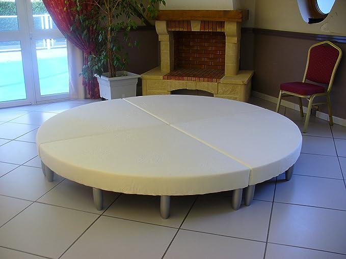 au-matelas-de-france Cama Redonda, diámetro 220 cm ...