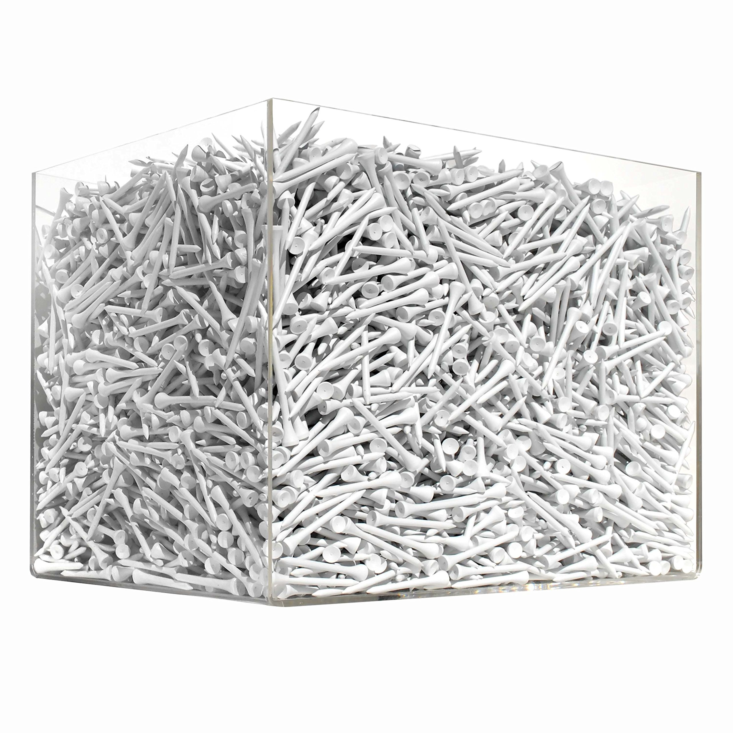 10,000 Case of Golf Tees - 2 3/4 inch white wood tees - by Golf Ball Divers