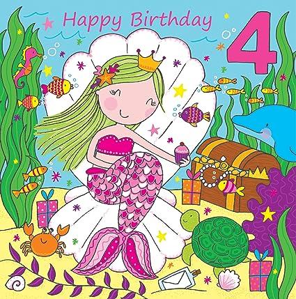 Auguri Buon Compleanno 66 Anni.Twizler Biglietto Di Auguri Per 4 Compleanno Per Ragazza