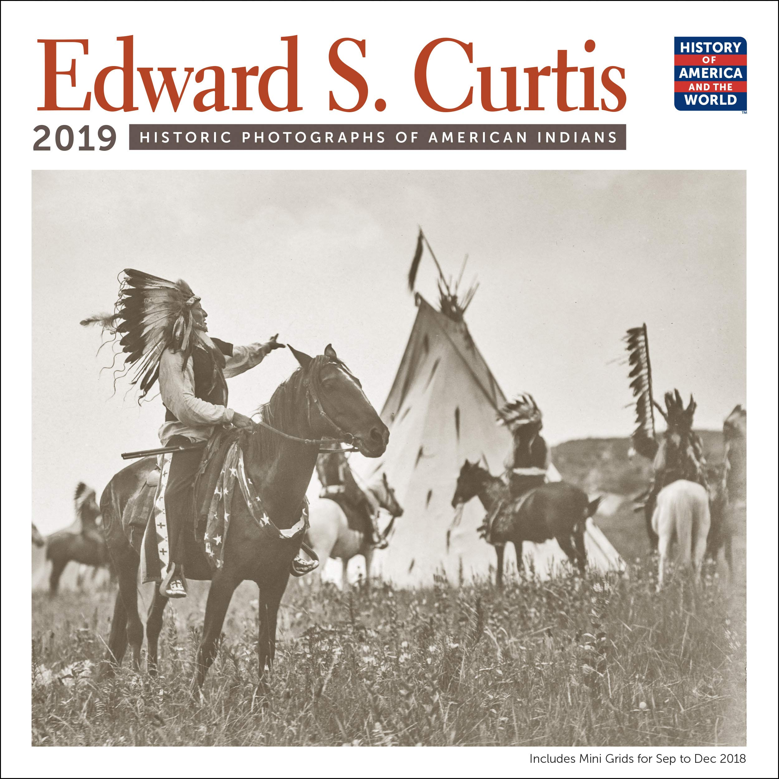December 2014 January 2019 Calendar Edward S. Curtis American Indians Wall Calendar 2019 Monthly
