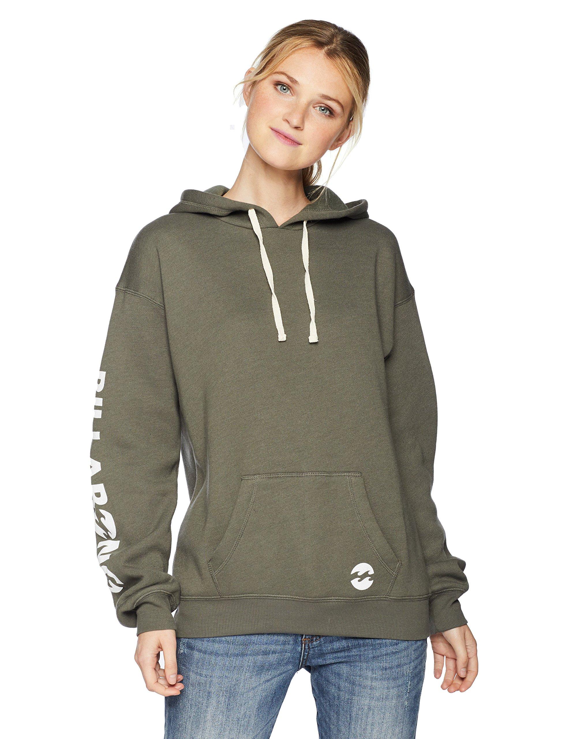 Billabong Women's Legacy Hooded Sweatshirt, Olive, M