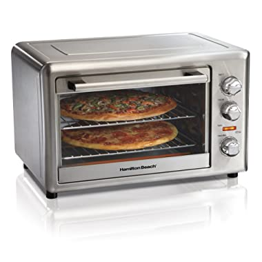 Hamilton Beach 31103DA Countertop Convection & Rotisserie Convection Oven, Extra-Large, Stainless Steel