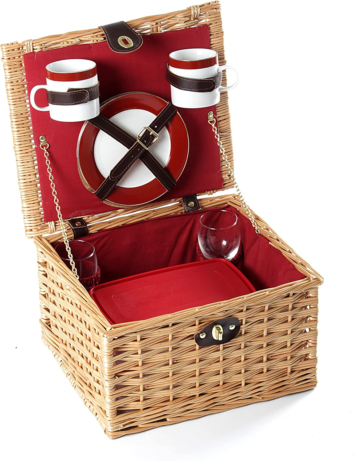 Greenfield Collection Dorchester Willow Picnic Two Hamper Pe Limited Special Price for Shipping included