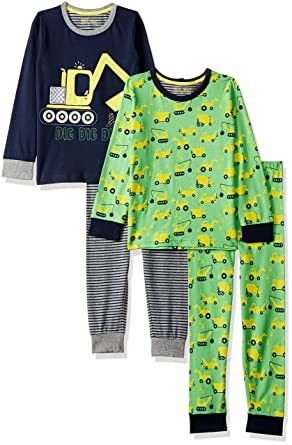 66db3de1a554 Mothercare Baby Boys 2 Pack Digger Pyjama Sets  Amazon.co.uk  Clothing
