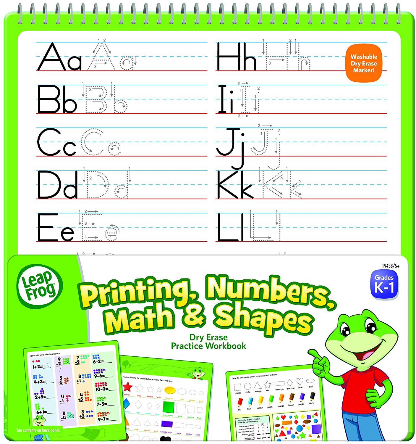Amazon.com: LeapFrog Printing, Numbers, Math and Shapes Dry Erase ...