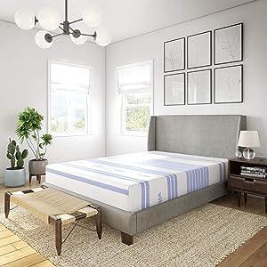 Vibe Gel Memory Foam 12-Inch Mattress / CertiPUR-US Certified / Bed-in-a-Box, Twin XL