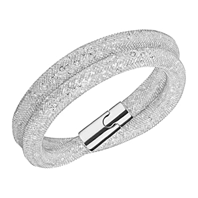673be70d2 Image Unavailable. Image not available for. Color: Swarovski Crystal Silver-Tone  Stardust Deluxe Bracelet