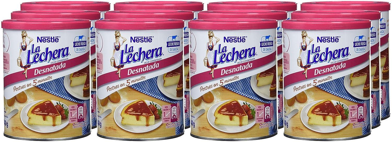 NESTLÉ LA LECHERA Leche Condensada Desnatada Lata. Abrefácil - Paquete de 12 x 740 g - Total: 8.88 kg: Amazon.es: Alimentación y bebidas
