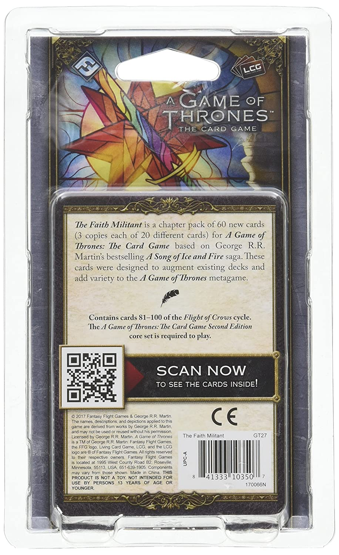 Amazon.com: A Game of Thrones LCG Second Edition: The Faith ...