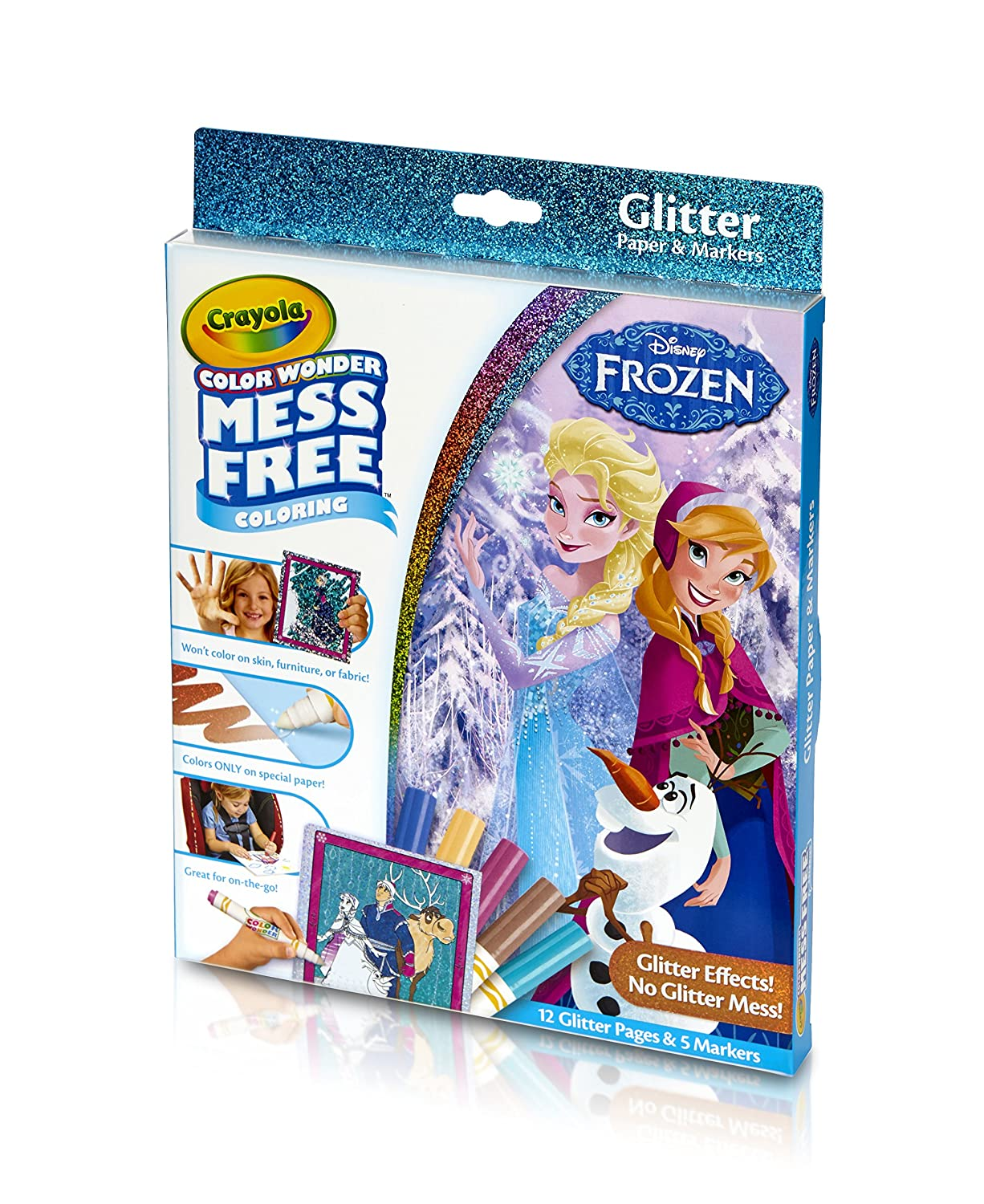 Frozen coloring pages amazon - Amazon Com Crayola Frozen Color Wonder Mess Free Coloring Glitter Paper And Markers Art Tools Great For Travel Toys Games