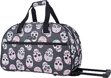 Betsey Johnson Luggage Designer Pattern Suitcase Wheeled Duffel Carry On Bag Paris Love One Size, Paris Love