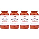 Keto Marinara Pasta and Pizza Sauce by Yo Mama's Foods - Pack of (4) - No Sugar Added, Low Carb, Low Sodium, Gluten Free, Pal