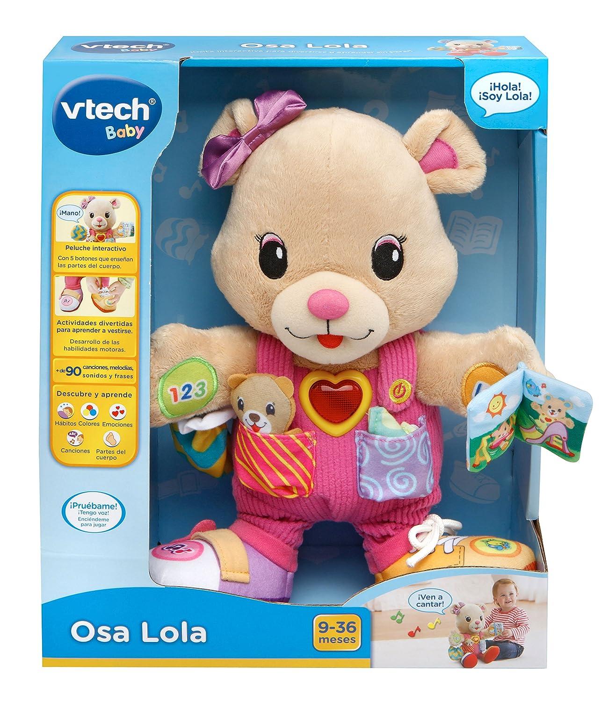 VTech - Oso Lola, Peluche Interactivo, Color Rosa (3480-194522): Amazon.es: Juguetes y juegos