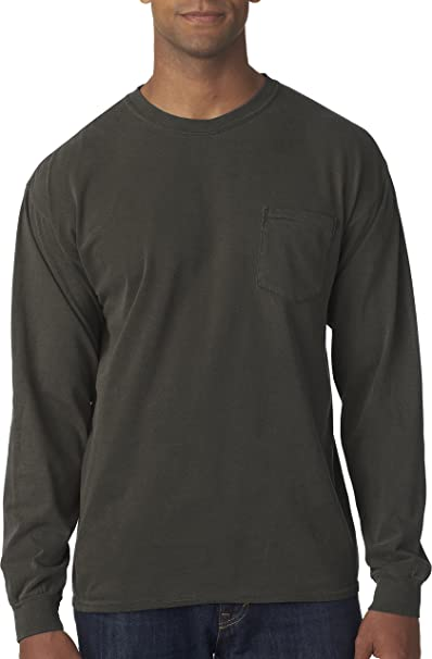 b540adc01 Image Unavailable. Image not available for. Color: Comfort Colors Mens Long-Sleeve  Pocket T-Shirt ...