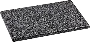 """Home Basics Granite Cutting Board, Serving Board, Cheese Board, Display of Appetizers (8"""" x 12"""", Grey)"""