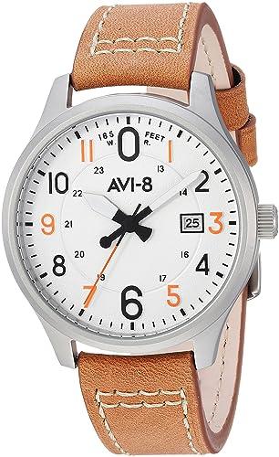 AVI-8 Hawker Hurricane Reloj de Hombre Cuarzo 43mm Correa de Cuero AV-4053-0A: Amazon.es: Relojes